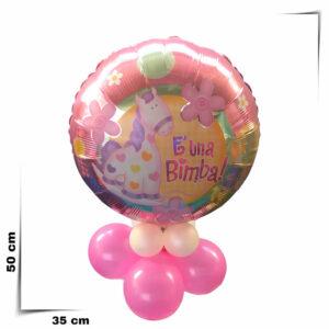 Composizione centrotavola palloncino è una bimba diametro 46 cm
