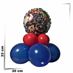 Composizione di palloncini centrotavola Avengers