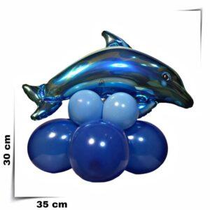 Composizione di palloncini centrotavola Delfino