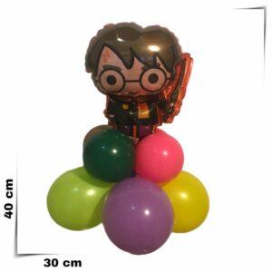 Composizione di palloncini centrotavola Harry Potter
