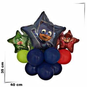 Composizione di palloncini centrotavola PG Mask