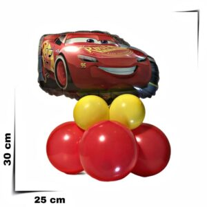 Composizione di palloncini centrotavola Saetta Mc Queen