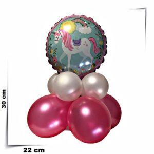 Composizione di palloncini centrotavola Unicorno