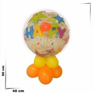Composizione a palloncini Bubbles Happy Birthday