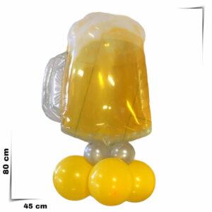 Composizione a palloncini supershape pinta di birra