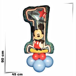 Composizione di palloncini centrotavola primo compleanno Topolino